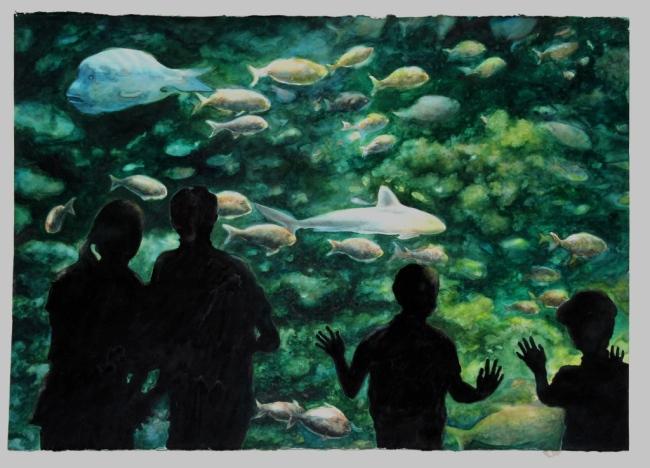 Ucho Carvalho revisita aquarelas na Pinacoteca de Santos