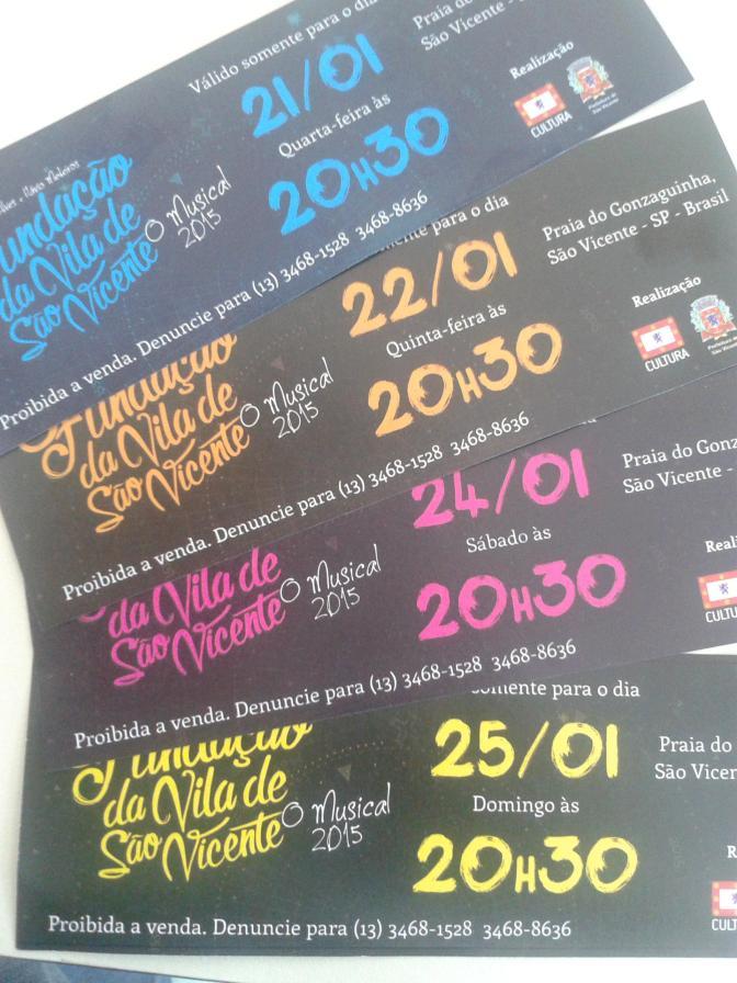 Encenação de São Vicente tem ingressos em shoppings e supermercados