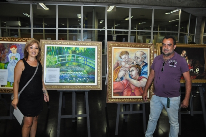'Relembrando os Grandes Mestres' em exposição no Paço de Cubatão