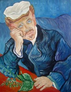 "Releitura ""Dr. Gauchet "" - Van Gogh - 40x50 - $ 800,00 c/moldura"