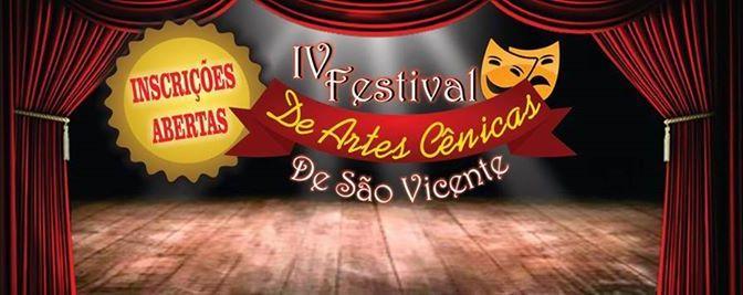 Inscrições abertas para 4º Festival de Artes Cênicas de SV