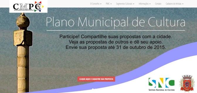 Site de conselho reúne propostas para Plano Cultural de SV