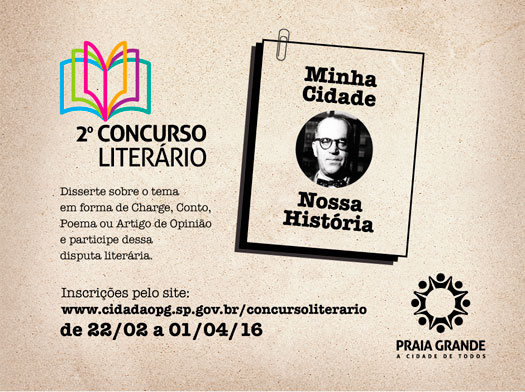 Abertas inscrições para 2º Concurso Literário de Praia Grande