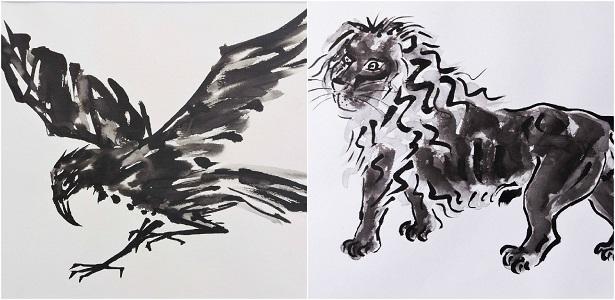 Exposição 'Pinturas e Sumiês de Fang' em Santos dia 31