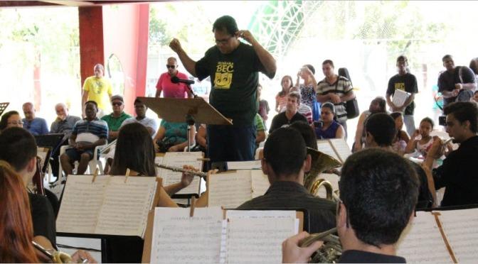 Alunos do Programa Banda Escola de Cubatão se apresentam sábado
