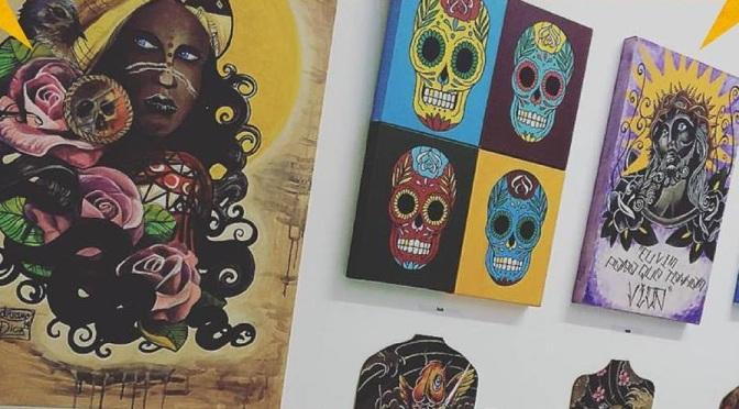 Arte de tatuadores e grafiteiros em exposição no Parque Vila de SV