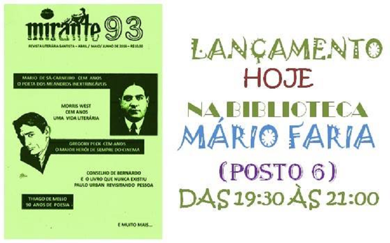 Rumo ao 34º aniversário, Revista Mirante será lançada nestasexta