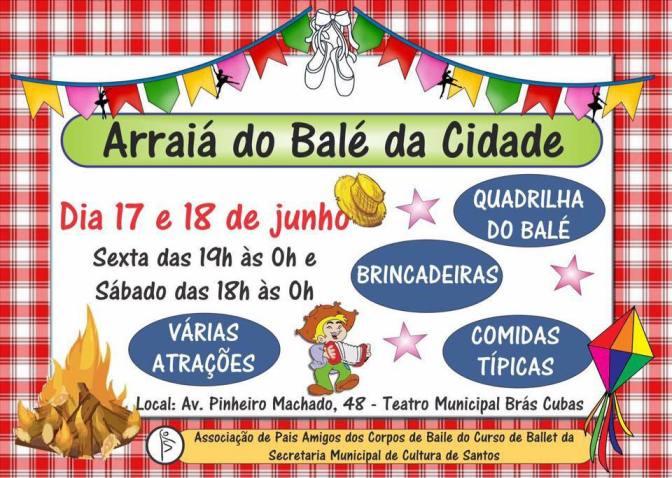 Escola de Bailado faz festa junina neste fim de semana