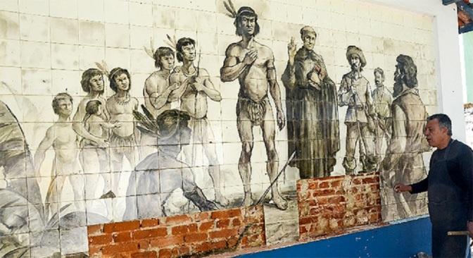Painel de azulejo dos anos 50 será restaurado em Itanhaém