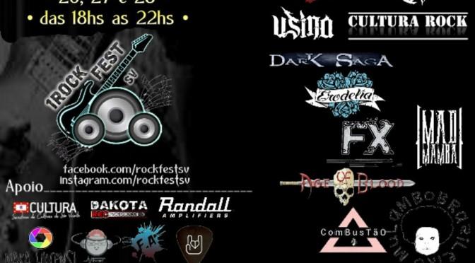 Vem aí o 1º Rock Fest nas Oficinas Culturais de SV