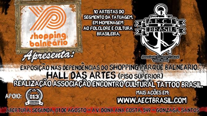 Associação Encontro Cultural Tattoo Brasil faz mostra no Shopping Balneário