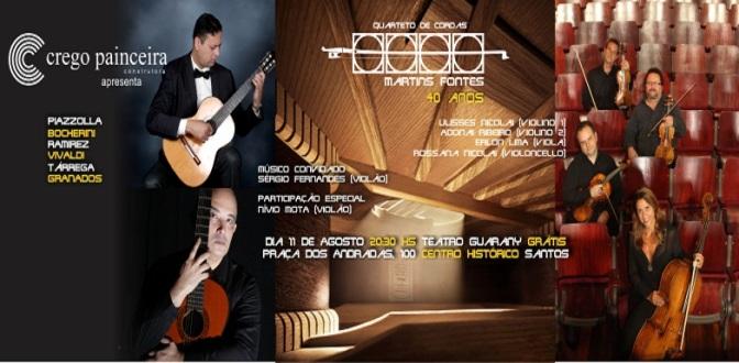 Quarteto de Cordas Martins Fontes faz apresentação gratuita no Guarany
