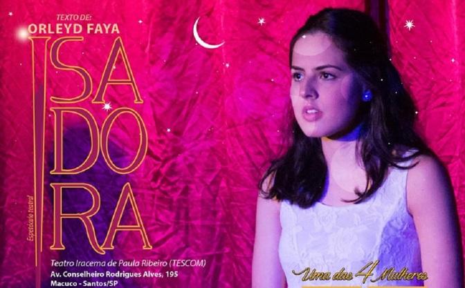 Dramatúrgica Oficina estreia 'Isadora' neste final de semana no Tescom