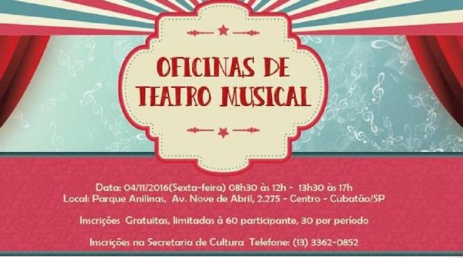 Inscrições para Oficina de Teatro Musical em Cubatão até dia 3
