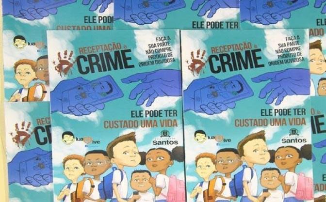 Projeto Luann Vive realiza exposição do gibi 'Receptação é Crime'