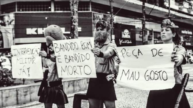 Pela liberdade de expressão, 'Blitz' neste sábado na Praça dos Andradas