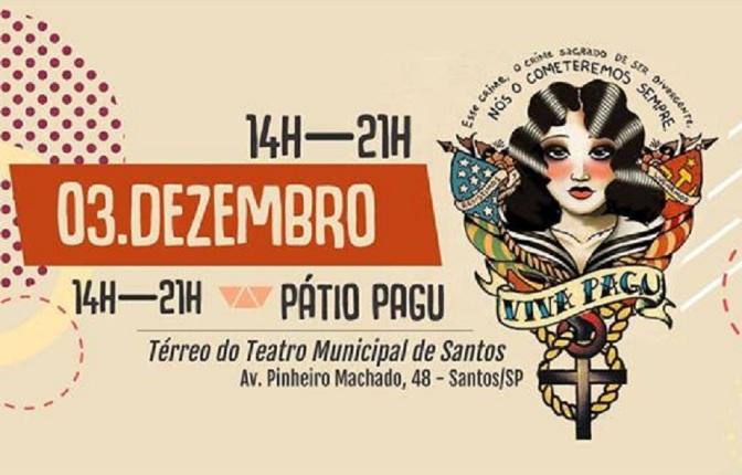 'Viva Pagu' reúne 45 expositoras em Santos, dia 3; acesse a programação na íntegra