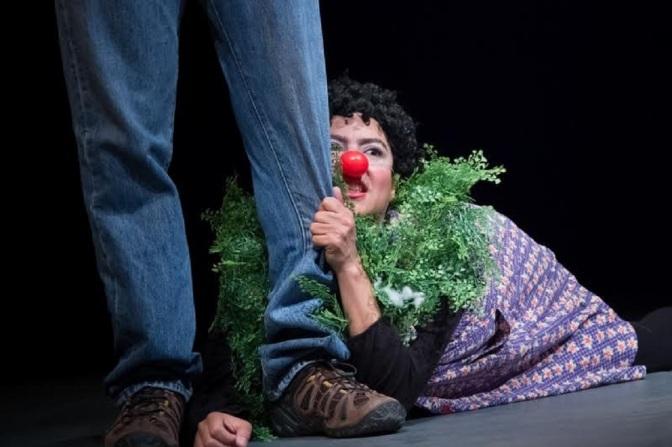 Arte clown de Darina Robles em apresentações e workshops em Santos