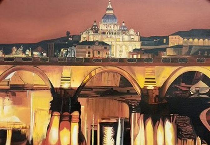 Exposição de pintura de Jô Santos retrata monumentos europeus