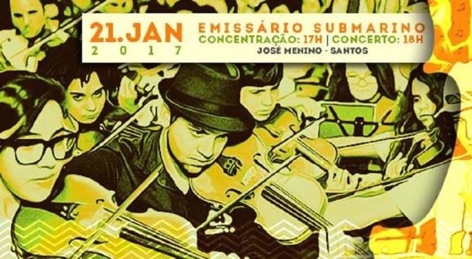 Orquestra na Rua realização edição pocket no Emissário Submarino