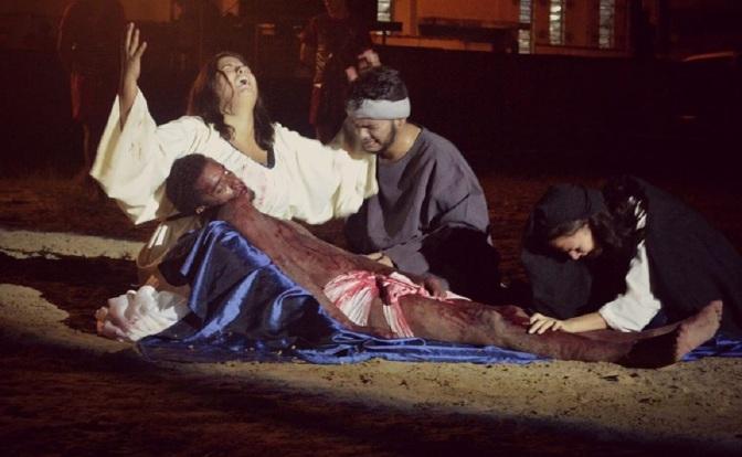 Mais de 7 mil são esperados na 25ª Encenação da Paixão de Cristo no Humaitá