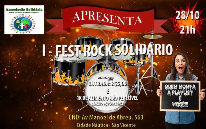 1º Fest Rock Solidário é realizado na Cidade Náutica dia 28/10