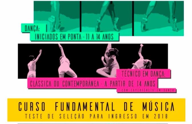 ETMD abre inscrições para cursos de dança e música entre dias 9 e 20