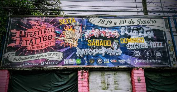 Segue até domingo o 3º Festival de Tatuagem de São Vicente