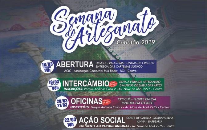 DPPDC realiza 2ª Semana do Artesanato de Cubatão; acesse a programação
