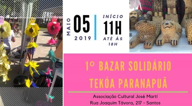 1º Bazar Solidário Tekoá Paranapuã será neste domingo em Santos
